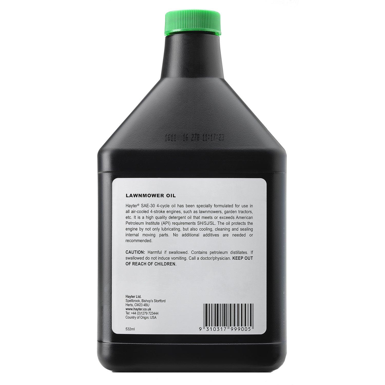 Hayter 111 - 9367 cortacésped del aceite del motor, Negro: Amazon.es: Bricolaje y herramientas