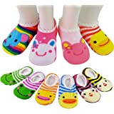 Baby 6 Pairs Anti Slip Foot Socks For 8 36 Months Infants And