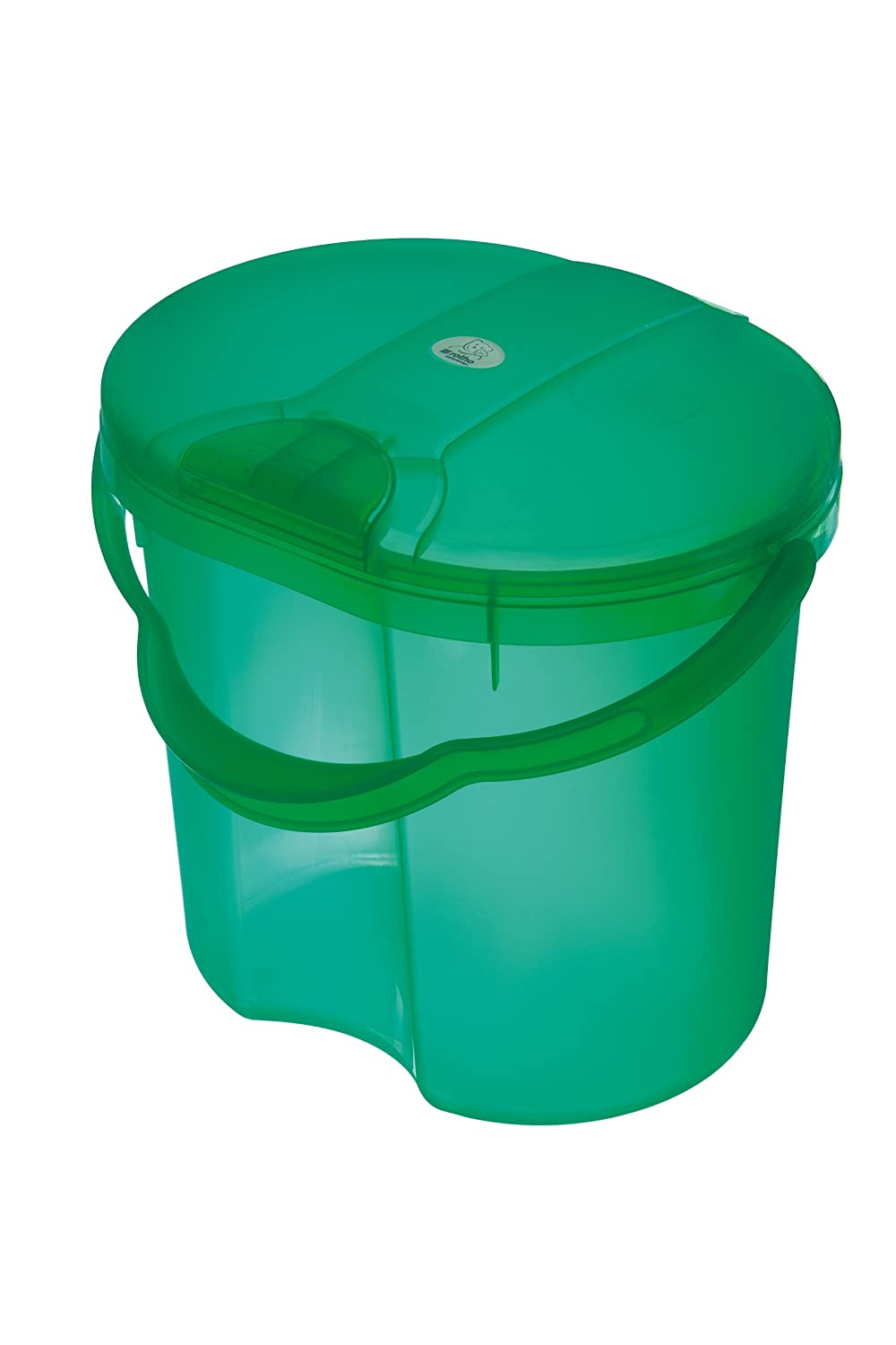Rotho Baby Design Topline Translucent Nappy Pail, Green Guzzie + Guss 20002-0211