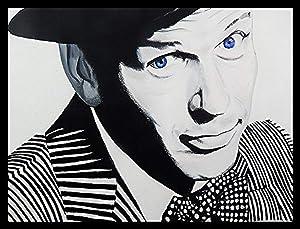 "Buyartforless Framed Frank Sinatra Blue Eyes by Ed Capeau Giclee Edition Art Print Poster Wall Decor, 30"" X 24"""
