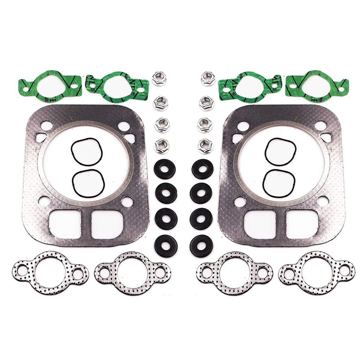 Head Gasket Kit for Kohler CH25 CH730 CH740 24-841-04S 24 841 03S - 2 Set HAOCHENG