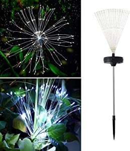 Oluote Fireworks String Lights, 150LEDs 8 Modes, Bouquet Shape Chandeliers Starburst Fairy Lights for Halloween&Christmas Party Decor (White)