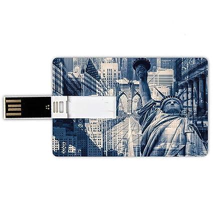 64GB Forma de tarjeta de crédito de unidades flash USB Estados ...