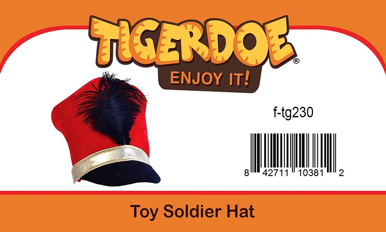 1109a703cbf Amazon.com  Tigerdoe Toy Soldier Hat - Drum Major Hat - Soldier Hat - Marching  Band Hat - Nutcracker Hat - Toy Soldier Costume  Clothing