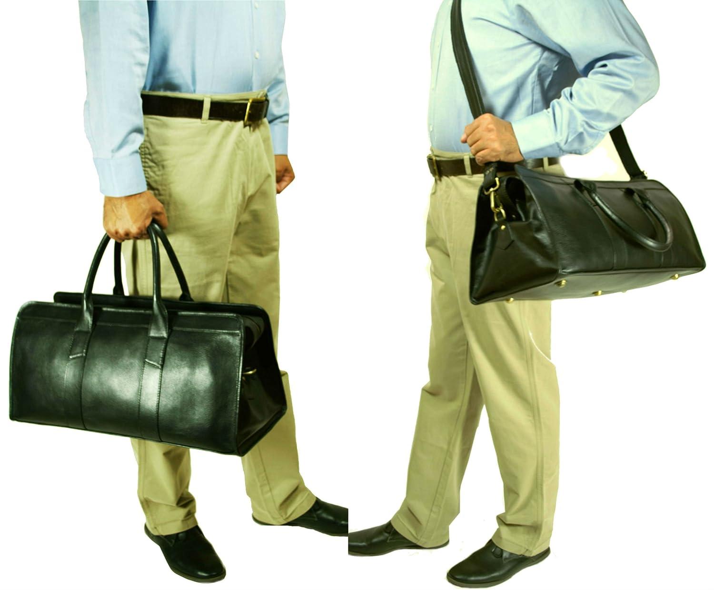 Top Grain Calf Leather 20 Weekender Overnight Travel Duffel Bag by Leftover Studio