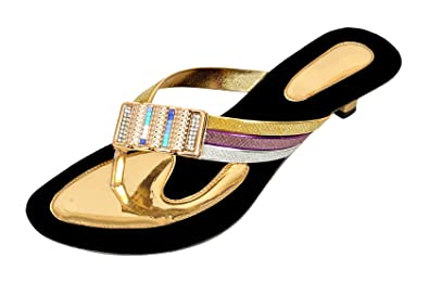 8a4cfbe5c772f5 Altek Stylish Fashion Sandals for Women   Girl Gold  Buy Online at ...