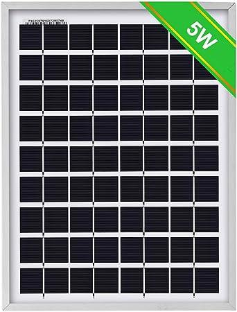 Amazon.com: ECO-WORTHY - Cargador de batería con panel solar ...