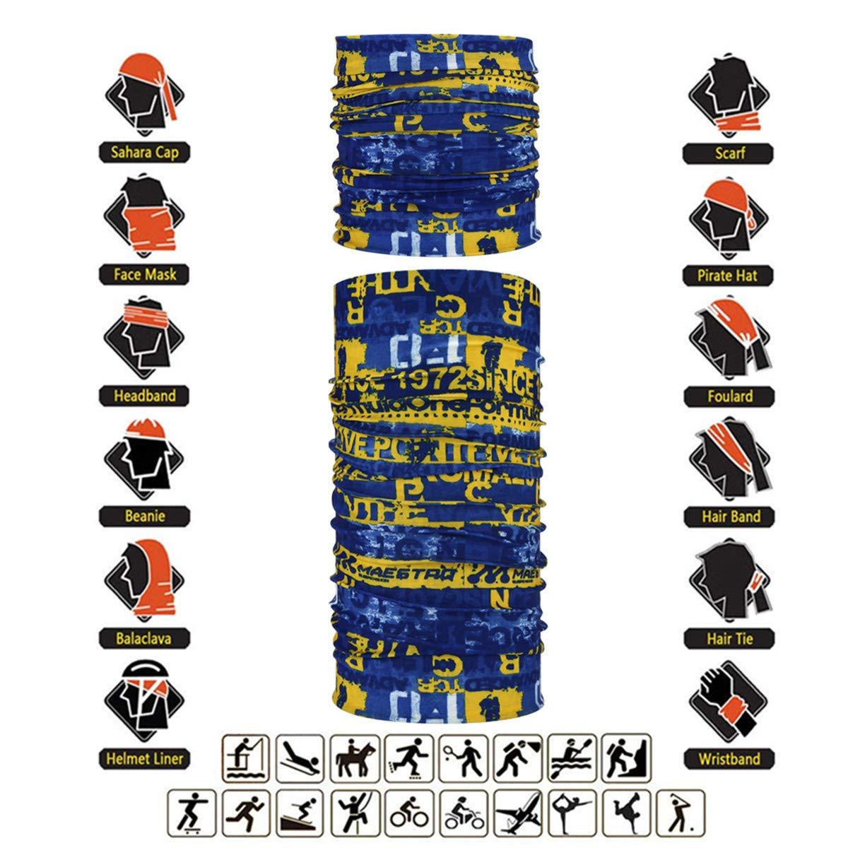 Topren High Elastic Magic Headband Bandanas Fishing and Other Outdoor Activities Outdoor Seamless Multi-Purpose Magic Scarf Elastic Headband Gaiter Balaclava for Riding Motorcycling Hiking