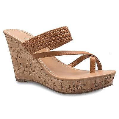 Olivia K Women's Platform High Heel Wedges Sandals - Slippers Flip Flops - Adorable, Comfortable, Sexy | Platforms & Wedges