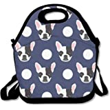 Best4UZ Boston Terrier Cute Dog Lunch Box Bag Lunch Tote Lunch Holder With Adjustable Strap For Kids And Adults For School Picnic Office Travel Outdoor School