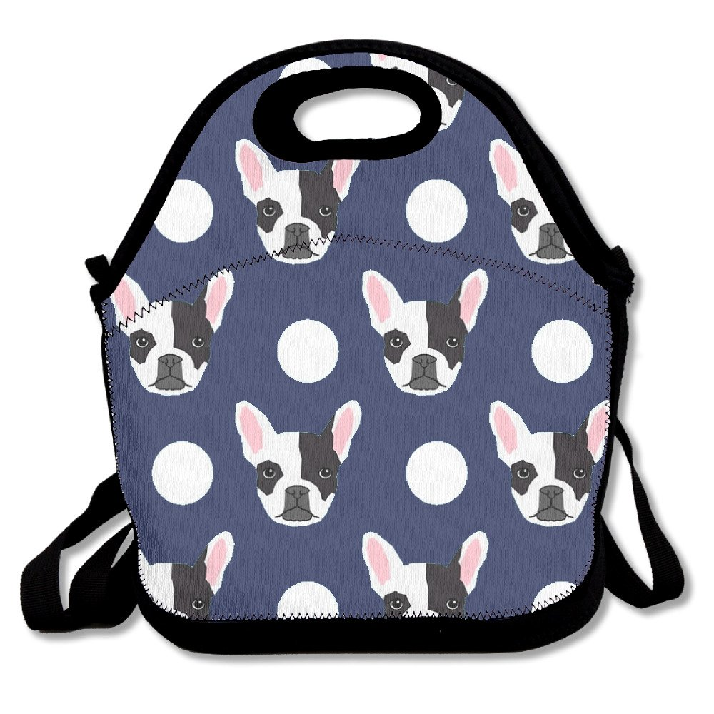Best4UZ Boston Terrier Cute Dog Lunch Box Bag Lunch Tote Lunch Holder with Adjustable Strap for Kids and Adults for School Picnic Office Travel Outdoor School Best4UMe
