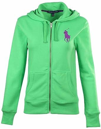 Polo Ralph Lauren Women\u0027s Big Pony Zip Up Hoodie-Racing Green-Small