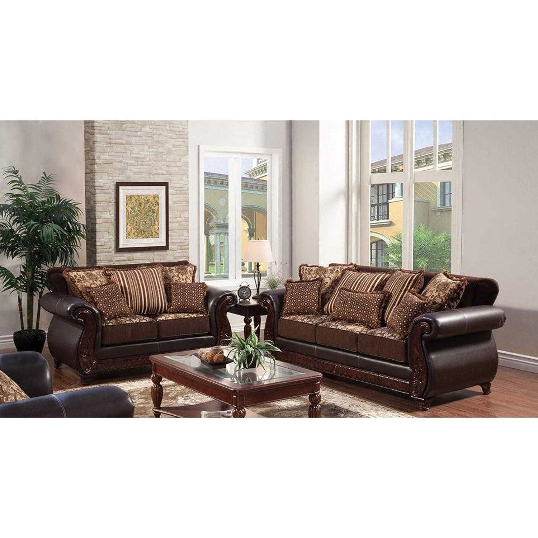 Amazon.com: furniture of america Esmeralda 2 piezas Juego de ...