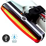 Sunspeed LEDテールライト セーフティーライト 自転車 usb充電式 6点灯モード 防水 高輝度 強力 軽量
