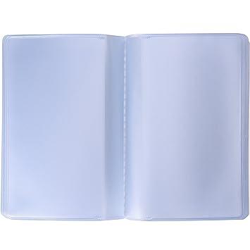 nouvelle arrivee prix favorable prix bas 2 Pièces Pochette de Carte en Plastique Porte-Cartes de Crédit avec 10  Pages 10 Emplacements et 10 Pages 20 Emplacements, Transparent