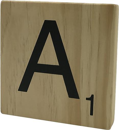 Original Way Scrabble Letra Decorativa A, Madera, Beige, 15x2x15 cm: Amazon.es: Hogar