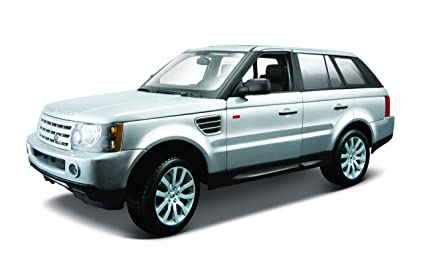 Amazon Com Maisto 1 18 Scale Silver Range Rover Sport Toys Games