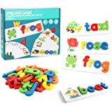 Matching Letter Game, Letter Spelling and Writing Toys for Preschool Kindergarten Alphabets Letters Sight Word Matching Games