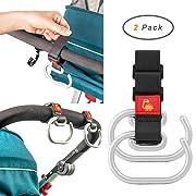 Stroller Hooks for Diaper Organizer, Great Strength Shopping Bags Carrier, 2 of Set
