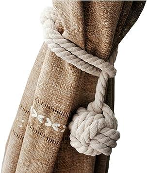 Cordón grueso para aguantar las cortinas, de Pixnor, de algodón ...