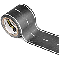PlayTape Black - Single Roll 30'x2 - Road Car Tape Great for Kids Sticker Roll for Cars and Train Sets Stick to Floors and Walls Quick Cleanup Children Toys Birthday Gift