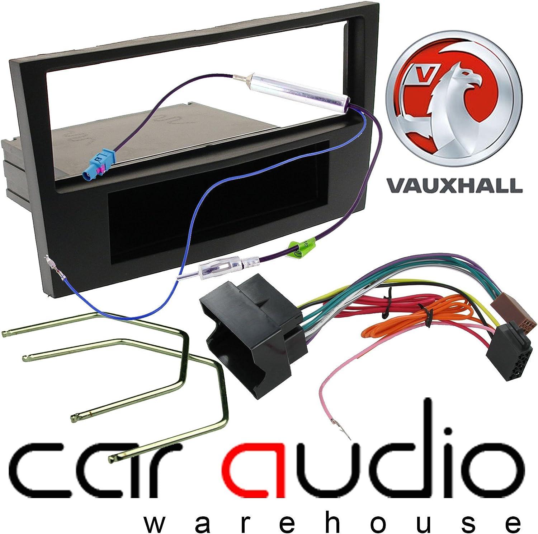 Vauxhall Corsa Black Car Stereo Radio Fascia Facia Adaptor Wiring Fitting KIT