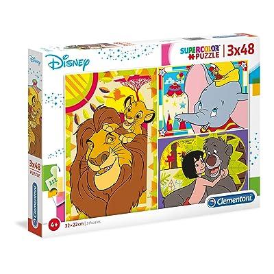 Clementoni Supercolor Puzzle-Disney Classic-3 X 48 Unidades, 25236: Juguetes y juegos