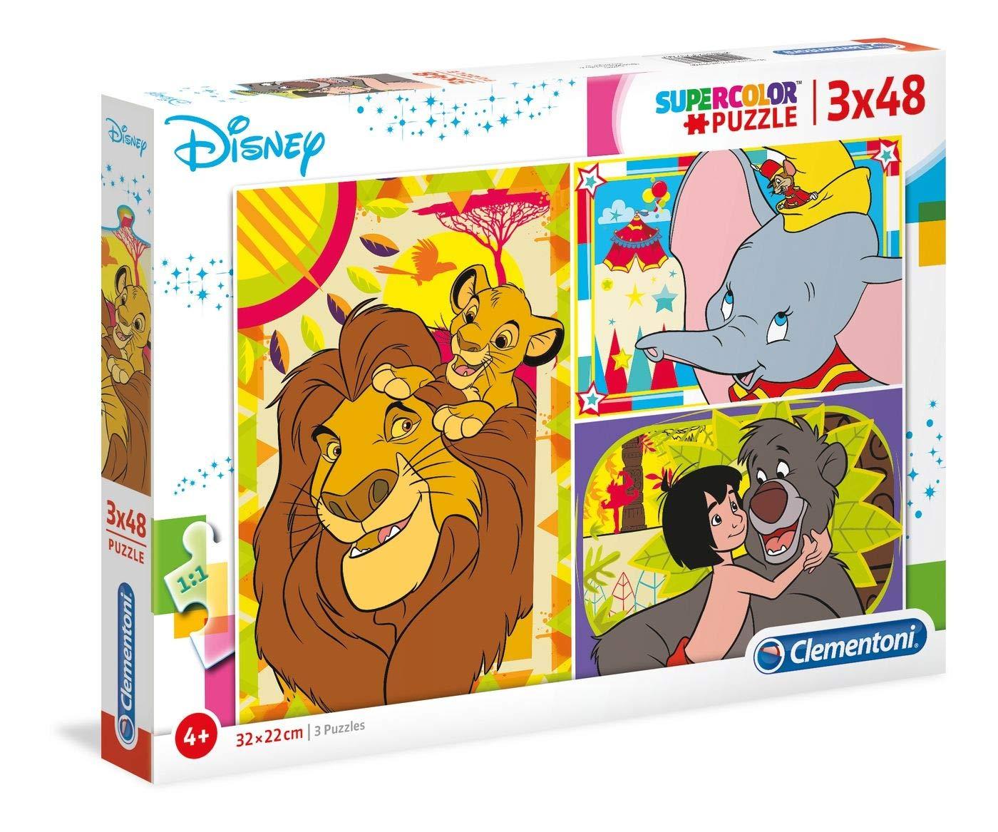 Clementoni Supercolor Puzzle-Disney Classic-3X 48Unidades, 25236