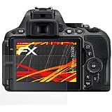 3 x atFoliX Folie Nikon D5500 Displayfolie - FX-Antireflex-HD Entspiegelung für hochauflösende Displays
