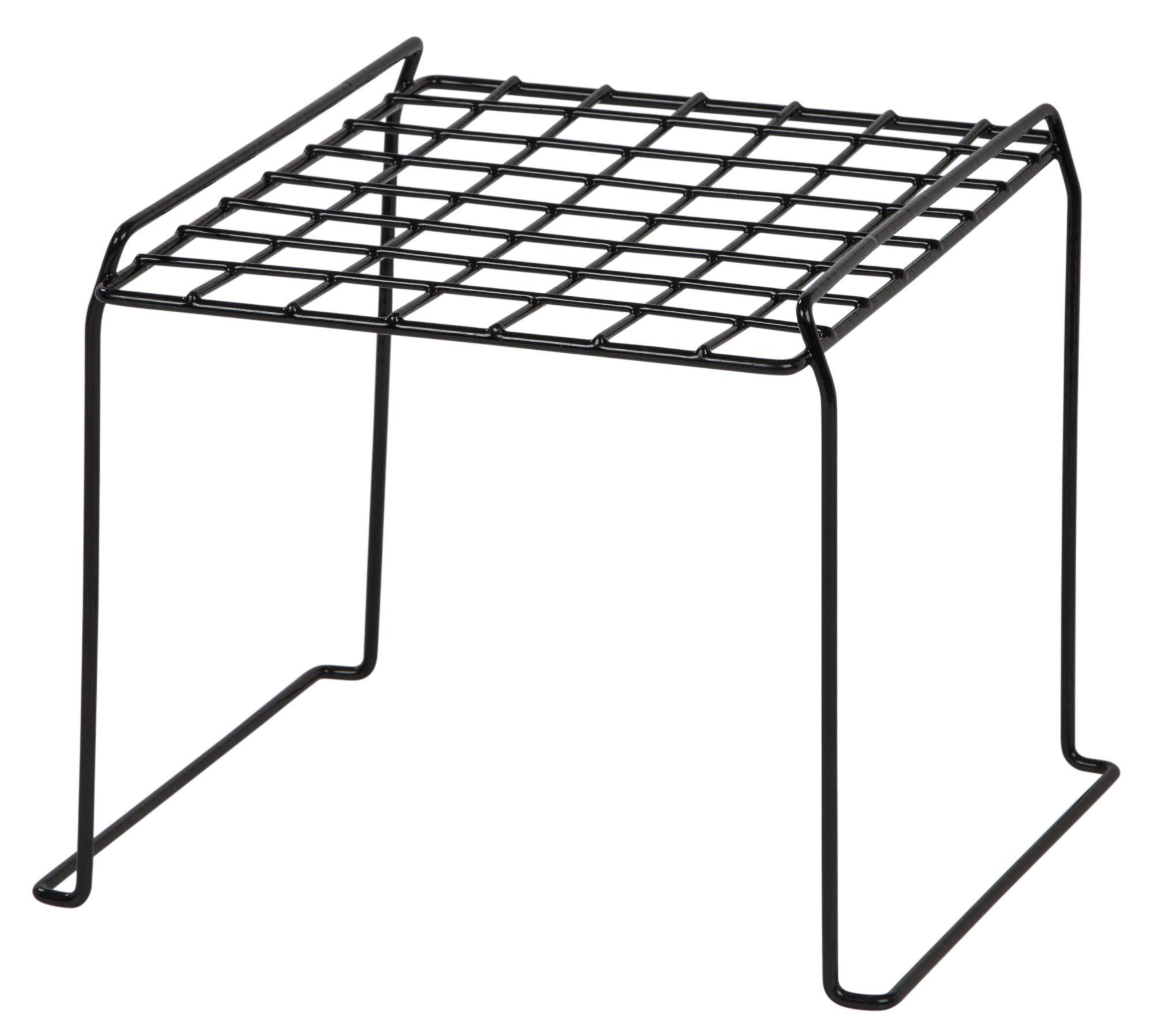 IRIS 8-inch Stackable Wire Locker Shelf, 4-pack, Black