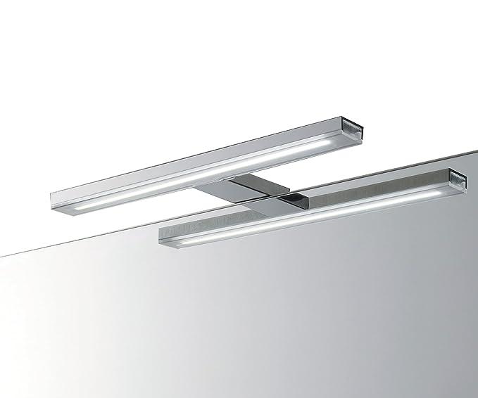 1 opinioni per EBIR- Lampada LED per specchio da bagno in alluminio Esther S3 L.490mm, 6W- 840