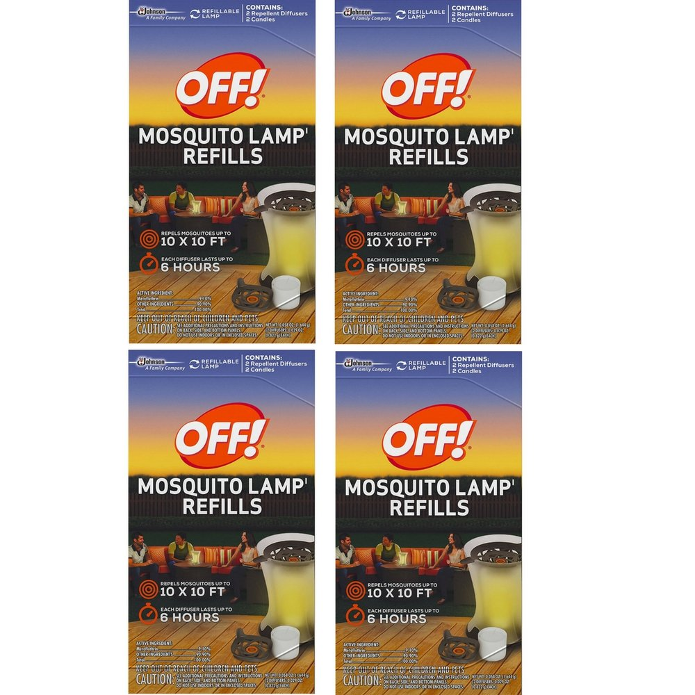 S C JOHNSON WAX 76086 Off Mosquito Lamp Refill, 2-Pack (4 Box)