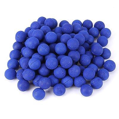 Qiterr 100pcs Elastic Balls, Rounds Soft Elastic Balls for Rival Zeus Apollo Toy Compatible Gun(Blue): Home & Kitchen