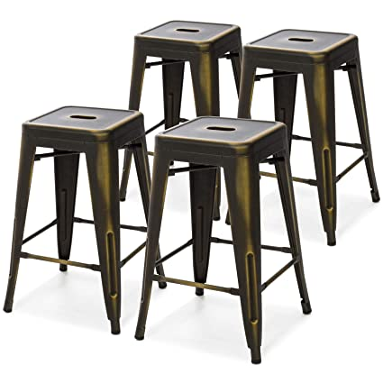 Incredible Amazon Com Picotech 24 Inches High Metal Backless Bar Stool Ibusinesslaw Wood Chair Design Ideas Ibusinesslaworg