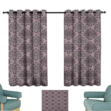 Amazon Com Traditional Decor Curtains Damask Style Grey