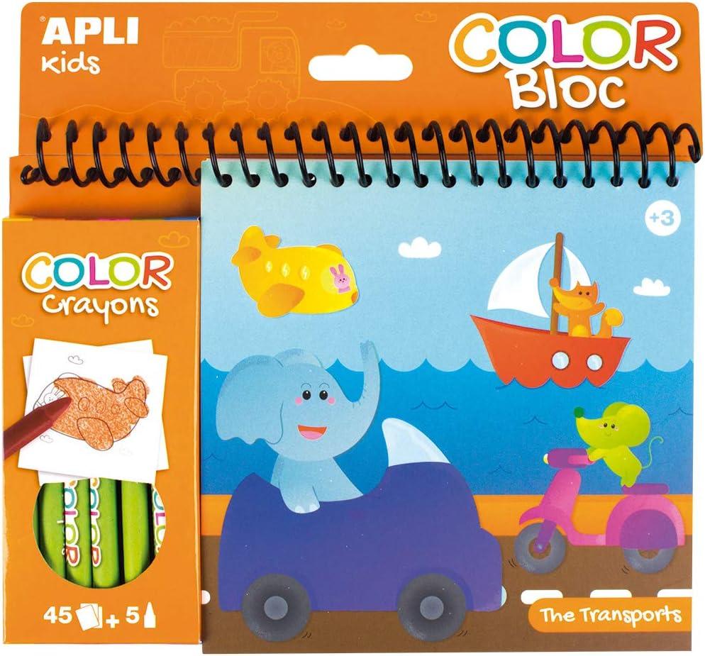 Bloc Peint et Color/é Transports APLI Kids 15207 Loisir Cr/éatif