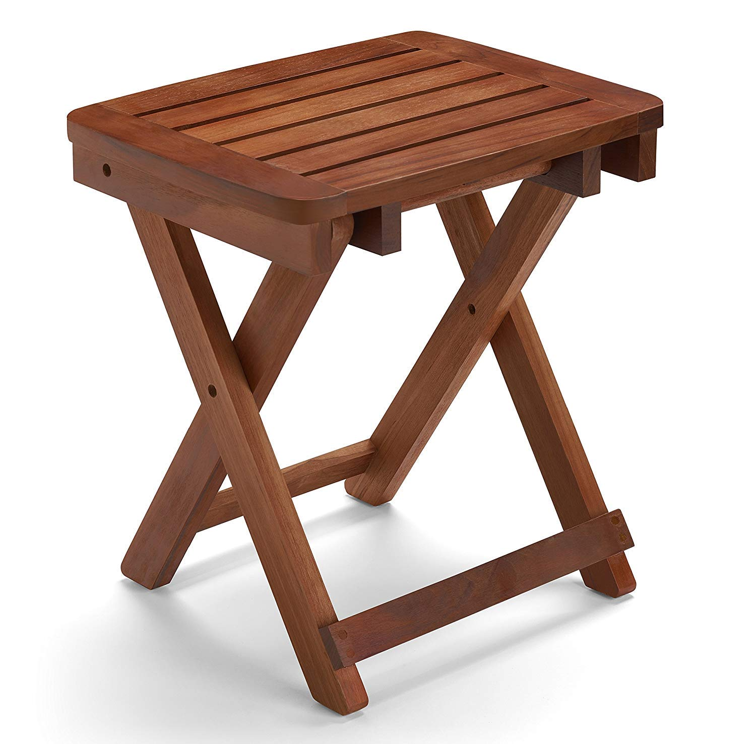 Amazon Com Conair Home Folding Teak Shower Seat Beauty