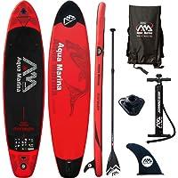 Aqua marina - Tabla de paddle surf hinchable, Monster Rouge, 365x82x15 cm