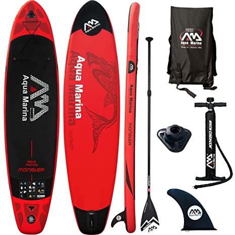 Aqua marina - Tabla de paddle surf hinchable, Monster Rouge ...