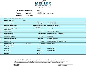 Schwarz PVC Valmex Boat 7318 Mehler 1500 x 500 mm Plane Schlauchboot Bootshaut