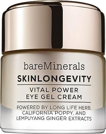 BareMinerals Skin Longevity Vital Power Eye Gel Cream, 0.5 Ounce