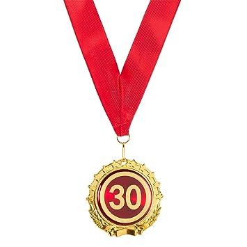 Juvale Gold Award Medal - 30th Aniversario y cumpleaños ...