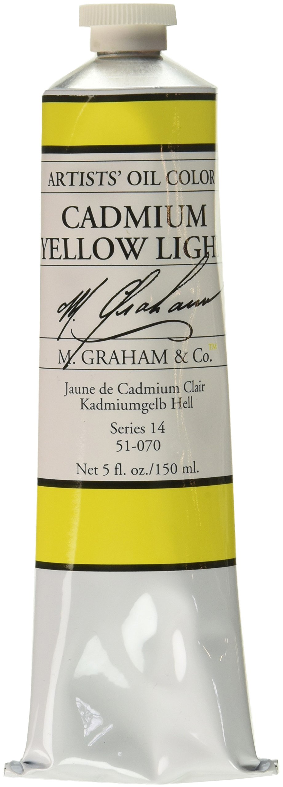 M. Graham Artist Oil Paint Cadmium Yellow Light 5oz Tube
