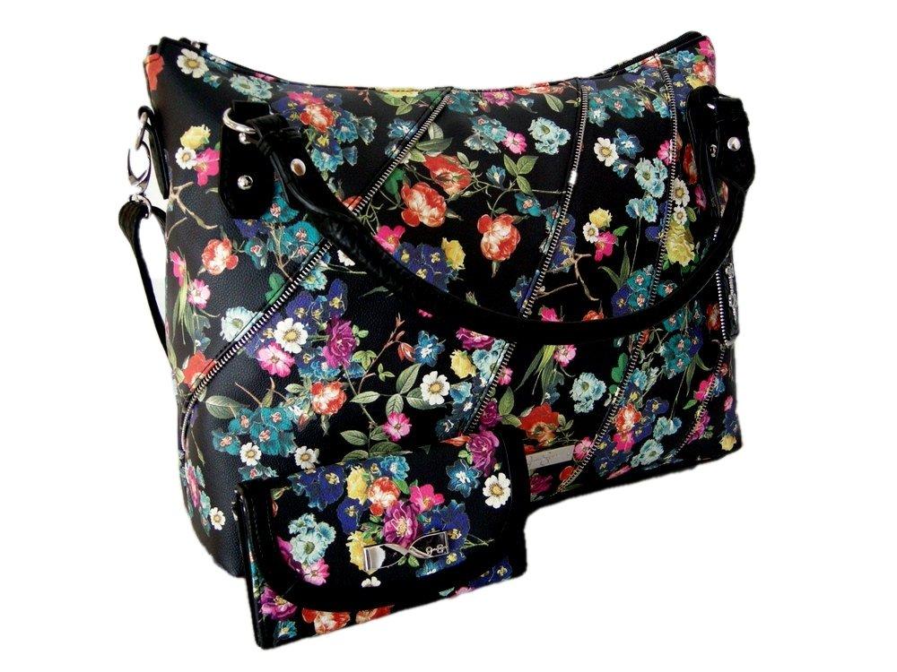 New Jessica Simpson Logo Purse Hand Bag & Matching Wallet 2 Piece Set Floral
