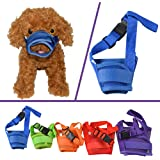 Dog Muzzle, YAMAY Dog Muzzles for Barking Biting Chewing Licking for Small Large Medium Dogs Adjustable Nylon Mesh Comfortable Anti Bite Chew Bark Lick Allow Drinking