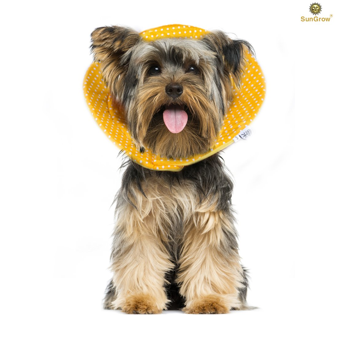 SunGrow Pet Cute Comfy Cone: Post Surgery & Stress-Free Recovery Collar : Durable, Scratch, Bite, & Water Resistant: With Adjustable Velcro Enclosures for Dogs & Cats