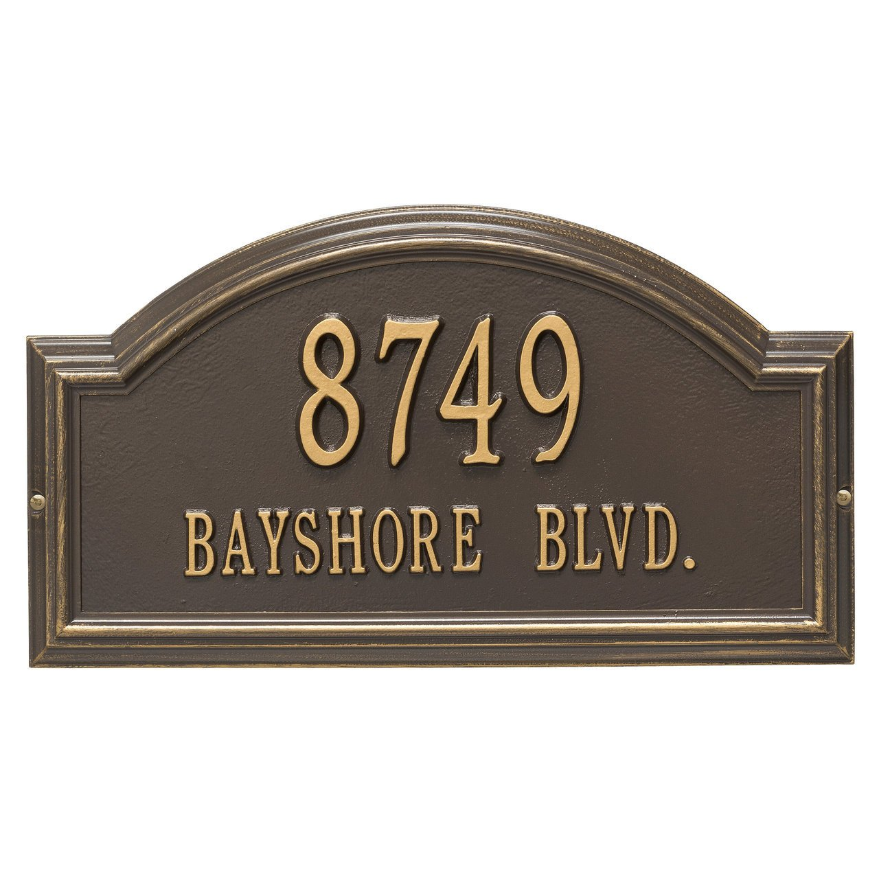 Custom Providence Arch WALL Address Plaque 2 Lines 17''W x 10''H