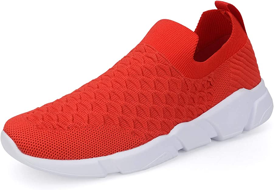 WXQ Women's Running Lightweight Breathable Casual Sports Shoes Fashion Sneakers Walking Shoes Red 36
