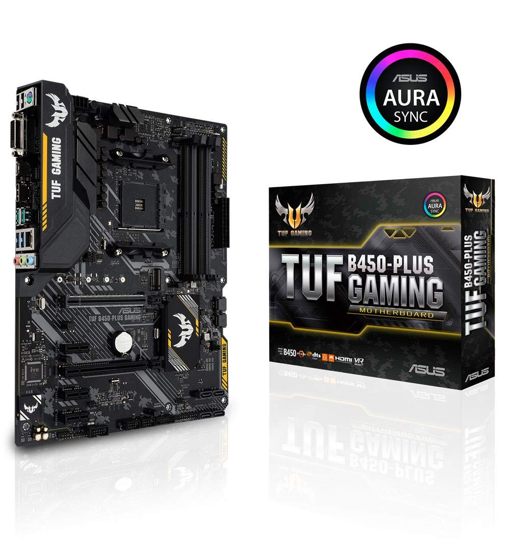 ASUS TUF B450-Plus Gaming Motherboard (ATX) AMD Ryzen 2 A...