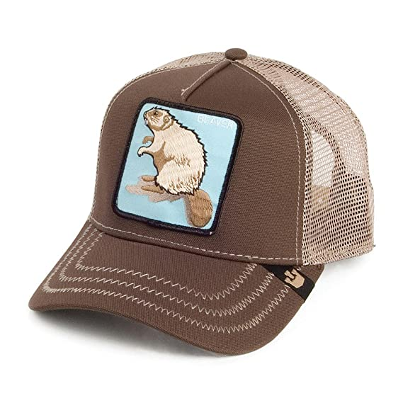 301e6eda16f7f Goorin Bros. Beaver Trucker Cap - Brown Adjustable: Amazon.co.uk ...
